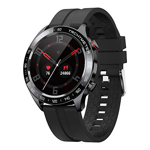 gandley Smart Watch for Men, Bluetooth Smartwatch for Android iOS phones with Blood Pressure Heart Rate Monitor, IP68 Waterproof Watch Sleep Fitness Tracker with Text Call Notification, Black