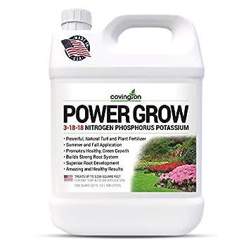 Liquid Lawn Fertilizer 3-18-18 NPK Grass Fertilizer Premium Lawn and Plant Nutrient Liquid Fertilizer and Food – Year Round Concentrate for Best Value – All Grass Types – 32 OZ