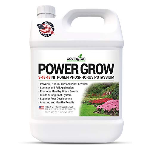 Liquid Lawn Fertilizer, 3-18-18 NPK Grass Fertilizer, Premium Lawn and Plant Nutrient Liquid Fertilizer and Food – Year Round Concentrate for Best Value – All Grass Types – 32 OZ