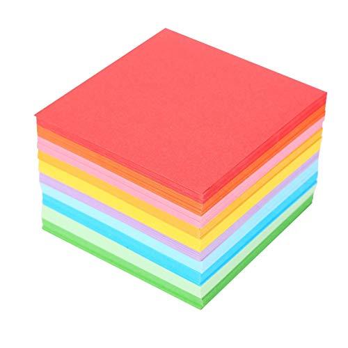 520 hojas de papel de origami, color Origami mil grullas de papel Origami de 2,75 pulgadas, 10 hojas de colores vibrantes, para niños grúa de papel DIY