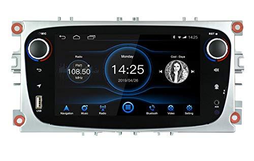 Navigazione GPS con autoradio Android 8.1 per Ford Focus Mondeo Galaxy S-max | Autoradio Android LEXXSON Octa Core con Bluetooth Touch screen da 7 pollici Supporto WiFi SD/AUX/RDS