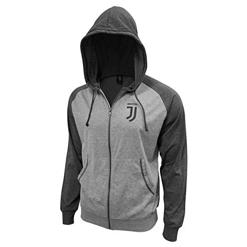 OFFICIALLY LICENSED JUVENTUS CREST YOUTH GREY HOODIE 100/% COTTON SM-XL
