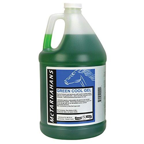 McTarnahans Green Cool Gel Horse Liniment, Gallon (128 oz)