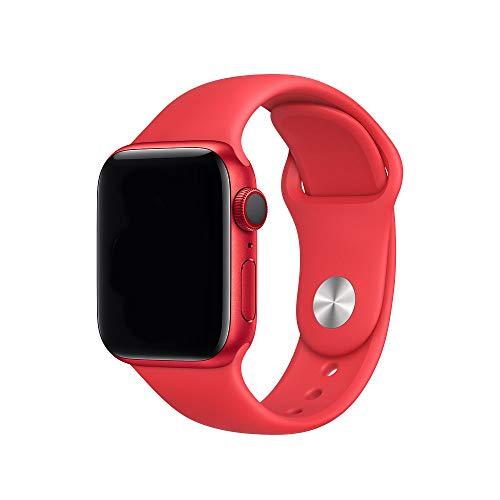 Antidote Cinturino per Apple Watch 38mm 40mm, Band in Silicone per iWatch Serie 6/5/4/3/2/1 (Rosso Ciliegia)
