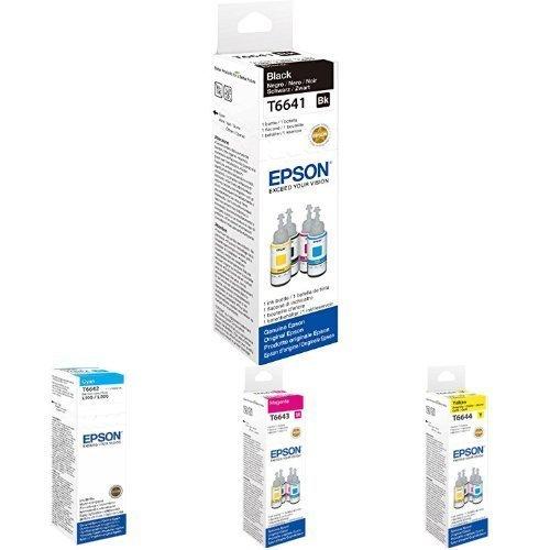 Epson Original 664 EcoTank Tintenflasche, ET-2500 ET-2550 ET-2600 ET-2650 ET-4500 ET-14000, Bundle 4-farbig