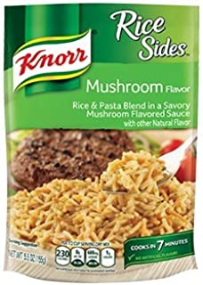 Knorr, Rice Sides, Flavor, 5.5oz Pouch (Pack of 6) (Choose Flavors Below) (Mushroom Rice)
