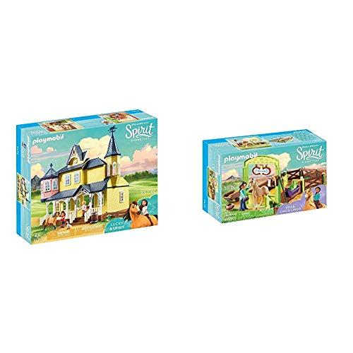 PLAYMOBIL DreamWorks Spirit Casa de Fortu, a Partir de 4 Años (9475) + DreamWorks Spirit Establo PRU y Chica Linda, a Partir de 4 Años (9479)
