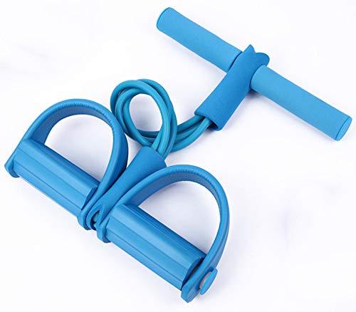 dnknkld Multifunktions-Zugseil Pedal Abzieher Sit-ups Abzieher Männer und Frauen unterstützt Home Fitness Equipment Blau