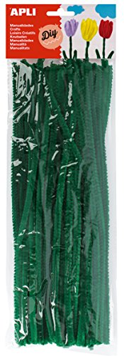 APLI - Bolsa limpiapipas verde, 50 uds