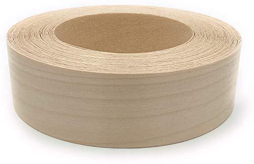 Frylr - Cinta adhesiva para bordes de chapa de madera prepegada con planchado – Cinta adhesiva Hotmelt – Hoja de borde de madera de fácil aplicación – Roble – Fabricado en Estados Unidos (50)
