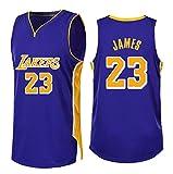 Se USA para el número 23 de fanáticos de Lebron James Los Angeles Lakers Niños Niñas Conjuntos de Camisetas de Baloncesto Uniformes de Baloncesto Chalecos de Camisas Ropa Deportiva-Purple-S