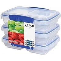 3-Pack Sistema Klip It Multi-Use Food Storage Container Set