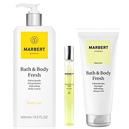 Marbert Fresh Erfrischende Körperlotion 400 ml & EDT 10 ml & Duschgel 200 ml