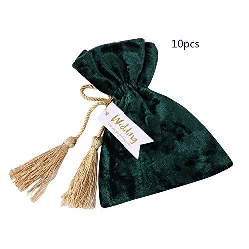 IXL 11x14cm Creative Red Velvet Bag Kordelzug Geschenkbeutel Hochzeitsgeschenk Kleiner Goldener Kordelzug Geschenk Flanellbeutel Candy Bag, Deep Sapphire