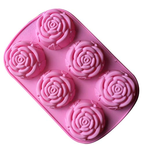 Best Price Neco Rose Shape Cake Silicone Baking Molds Chocolate Cookies Sweet Mould Ice Cube Soap Mo...