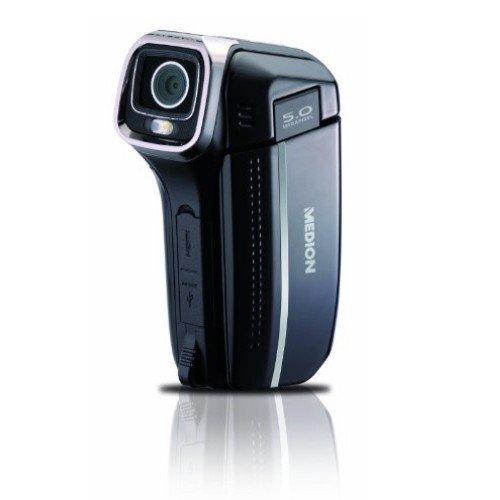 Medion Life E47006 Digitaler HD Camcorder (SDHC-Kartenslot,4-fach Digitalzoom, 6,1 cm (2,4 Zoll) Display) schwarz