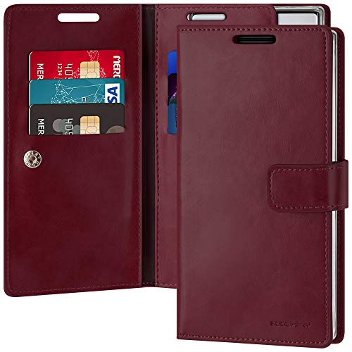 Goospery Mansoor Wallet for Samsung Galaxy Note 10 Case (2019) Double Sided Card Holder Flip Cover (Wine) NT10-MAN-WNE
