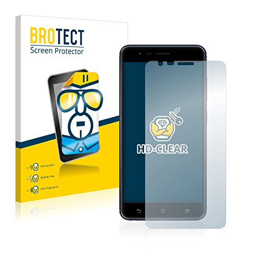BROTECT Schutzfolie kompatibel mit Asus ZenFone 3 Zoom ZE553KL (2 Stück) klare Bildschirmschutz-Folie