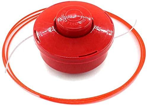 SYCEZHIJIA Carrete de 2 líneas de alimentación por Golpes con Cabezal de desbrozadora para Mountfield Mac Allister MACALLISTER MBCP254 123155009 123155009/0