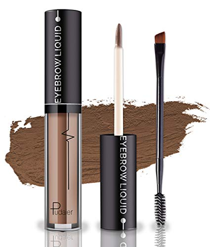 Waterproof Eyebrow Gel, Long Lasting Smudge-Proof Liquid Brow Makeup Tint, Brow Shaper with Mascara Primer Brush Wand Kit Mother