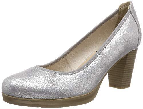Jana 100% comfort Damen 8-8-22409-22 Pumps, Grau (Grey/Silver 212), 39 EU