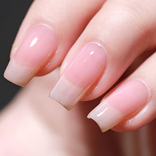 Clear pink gel nails _image4