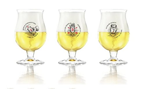 Duvel Cerveza Glass Vaso de Cerveza 33cl (Set of 3)