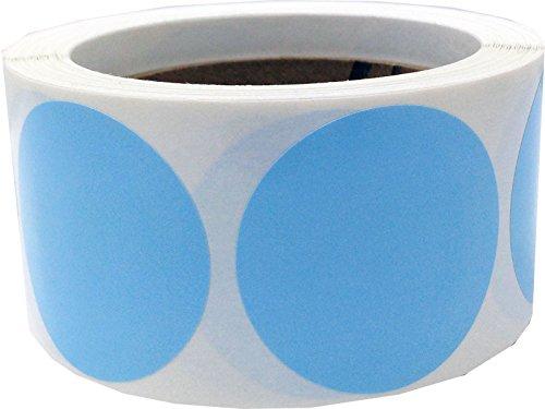 Bleu Bébé Autocollants de Cercle, 51 mm 2 Pouce Étiquettes de Points 500 Paquet