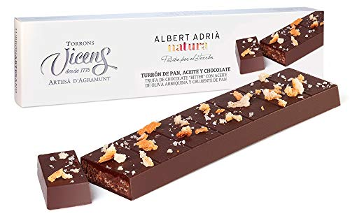 Turrón Pan, aceite y chocolate Adrià Natura 250 gr