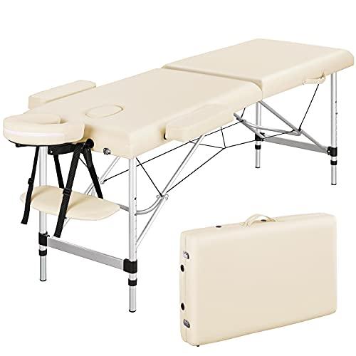 Yaheetech Adjustable Massage Table Folding Salon Beauty Bed Portable Spa...