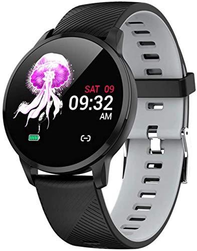 TYUI Hombres s y mujeres s relojes inteligentes ritmo cardíaco presión arterial sueño Monitoreo de la salud podómetro compatible con Android e IOS teléfonos-E