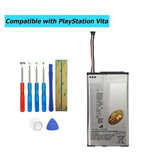 Upplus SP65M - Batería de Repuesto para Playstation Vita, PS Vita PCH-1006, PCH-1004, PCH-1104 (2210 mAh, con Kit de Herramientas)