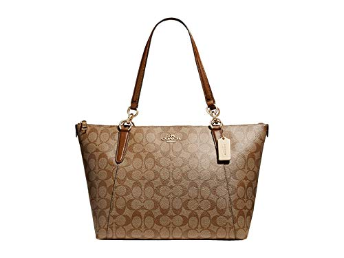 COACH Signature Messico Ava Tote Khaki/Saddle 2 One Size