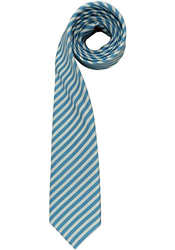 OLYMP Krawatte regular aus reiner Seide Nano Effekt Streifen eisblau