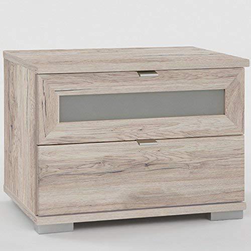 Wimex 886697Nachttisch mit 2Schubladen weiß Board 52x 38x 40cm