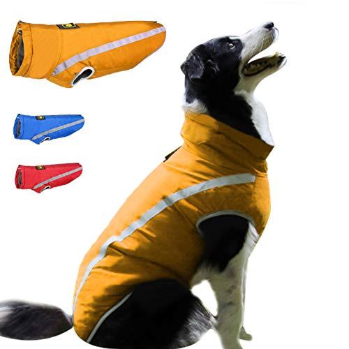 FEimaX Hundemantel Hundejacke wasserdichte für Hunde, Reflektierende Wintermantel mit Fleece Gefüttert, Welpen Warm Mantel Jacke Winterjacke für Kleine Mittlere Große Hunde Haustier