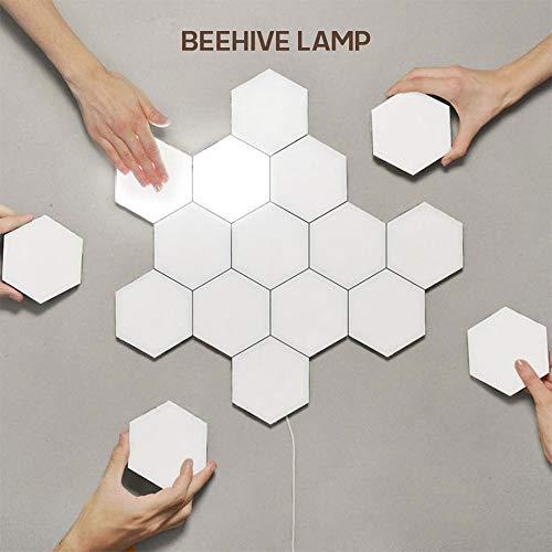 Hexagon Led Modular Touch, Lights Hexagon Led Panel Honeycomb Light Quantum Led Geometry Nanoblocks (10PCS)