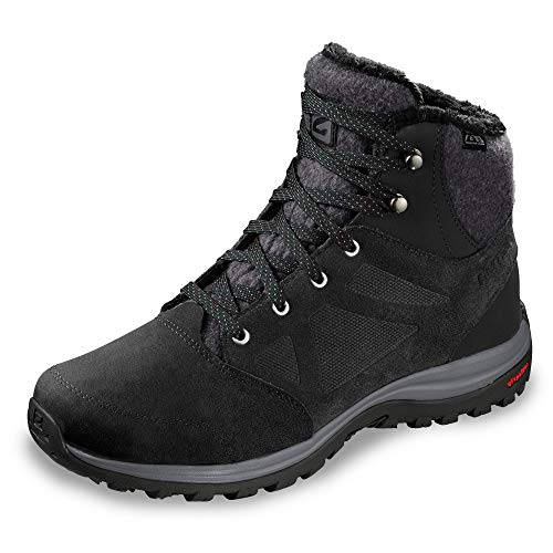 SALOMON Ellipse Freeze CS WP, Scarpe Invernali Donna, Nero (Black/Phantom/Beach Glass), 41 1/3 EU