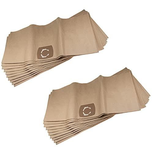 vhbw 20 bolsas de aspiradora de repuesto para Swirl K 222 (30 l), R 24, Uni 30, VAC 130 para aspiradora – papel, 33,1 cm x 77,7 cm, color beige