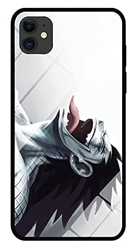 Funda para Teléfono con Cordón Estuche para iPhone con Brillo Nocturno Carcasa de Vidrio Templado 3D Anime Attack On Titan Borde Suave Antiarañazos Compatible con iPhone 11 Pro MAX