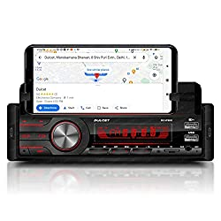 Dulcet DC-F90X 220W Single Din Mp3 Car Stereo with in-Built Smartphone Holder/2.1 Amp Ultra Fast Charging/Dual USB Ports/Bluetooth/Hands-Free Calling/FM/AUX Input/SD Card Slot/Remote Control,DULCET,DC-F90X