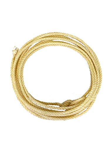 "Colorado Saddlery Kid's Lariat | Pro Feel Lasso | Genuine Honda Knot | Cowboy & Cowgirl Rope, Biege, 5/16"" x 25' (15-26)"