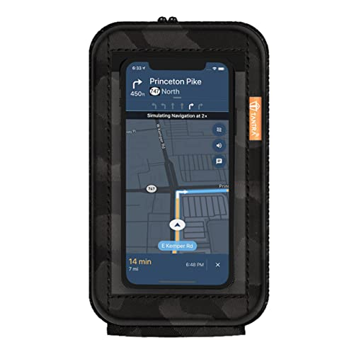TANTRA Mobile Holder for Scooty Scooter Phone Pouch for Activa Jupiter Pleasure Ntorq Access Ather Ola S1 (Latest and Premium) Black