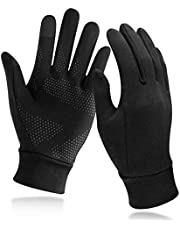 Unigear Touchscreen handschoenen, uniseks, sporthandschoenvoering, outdoor-hardloophandschoenen, warme winddichte winterhandschoenen, anti-slip, volledige vingers voor hardlopen, fietsen, wandelen