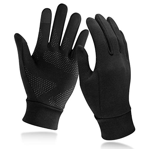 Unigear Running Gloves, Touch Screen Anti-Slip Lightweight Gloves Liners for Cycling Biking Sporting Driving for Men Women (Medium)