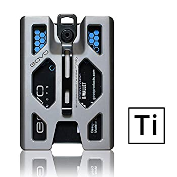 Titanium GOVO Badge Holder/Wallet - ID Card Holder with Metal Clip and 4 Cards Slot