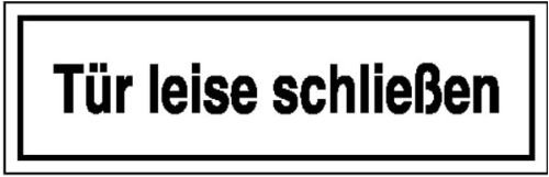 4513. Aanwijzingsbord voor bedrijfsaanduiding deur stil sluiten kunststof (polysterol) grootte 25,00 cm x 7,00 cm