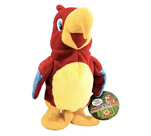 De.Car2 26138 Pájaro de juguete Rojo, Amarillo juguete de peluche - Juguetes de peluche (Pájaro de juguete, Rojo, Amarillo, Niño/niña, AAA, 390 mm, 320 mm)