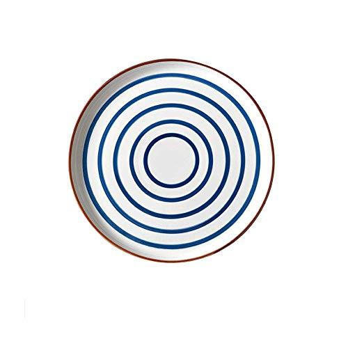 ZLSP Placa de las pastas, pintado a mano de cerámica vajilla, platos, platos occidentales for el hogar, ensalada de cerámica/platos aperitivo for hogar y la cocina ZLSP (Style : B)