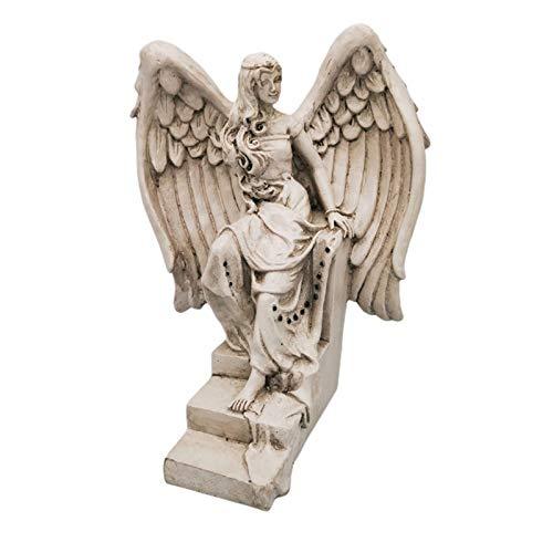 Funight Garden Angel Ornament,Realistic Angel Sculpture with Wings,Weather-resistant Resin Angel Statue,Art Sculpture for Garden 1